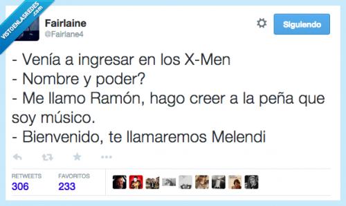 Los X-Men y Melendi