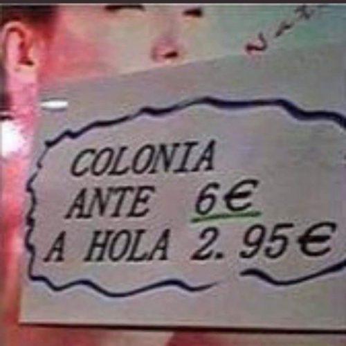 El precio de la colonia