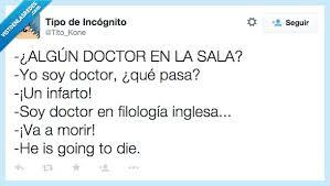 Chistes de médicos y sanitarios doctor en inglés
